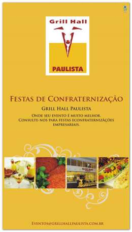 Banner impresso Grill Hall Paulista